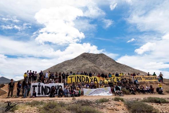 Encuentro de opositores al proyecto de Chillida en Tindaya. Foto: Ale Maeder.