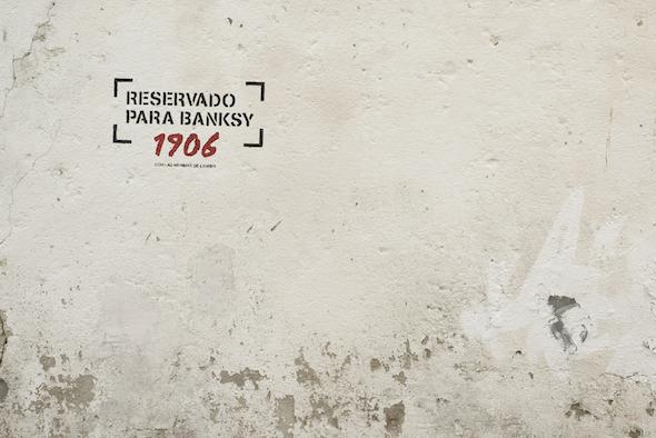 Espacio reservado para Banksy en Canido.