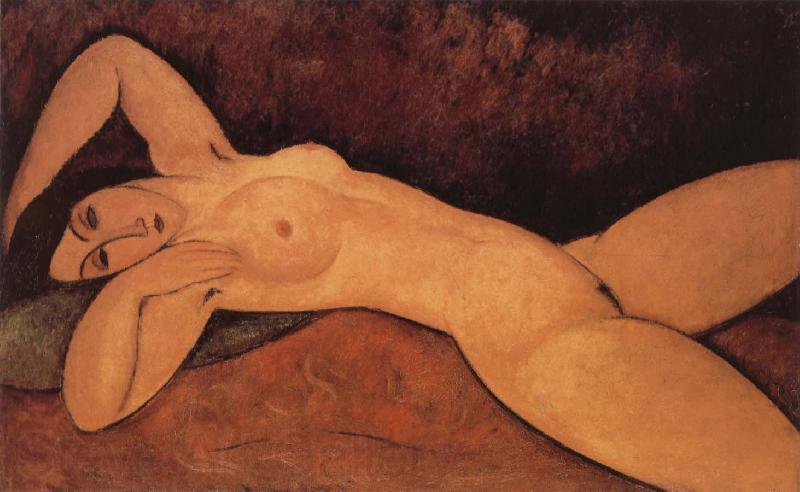 Desnudo recostado de Modigliani.