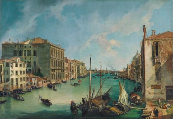 Canaletto. El Gran Canal desde San Vio (1723-24).