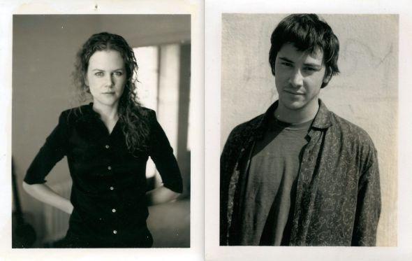 Nicole Kidman y Keanu Reeves en dos polaroids tomadas por el propio Gus Van Sant.