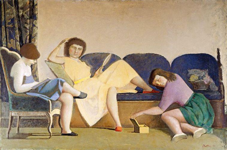 Balthus. Las tres hermanas, 1955 (Les Trois soeurs). Colección Patricia Phelps de Cisneros.