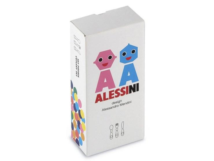 Cubiertos Alessini de Alessandro Mendini para Alessi elástica magazine