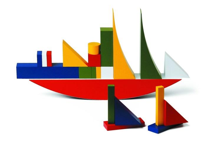 Juego construcción bloques de madera Bauhaus