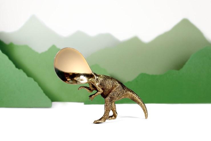 Cubiertos con forma de dinosaurio de Andreu Carulla para El Celler de Can Roca elástica magazine
