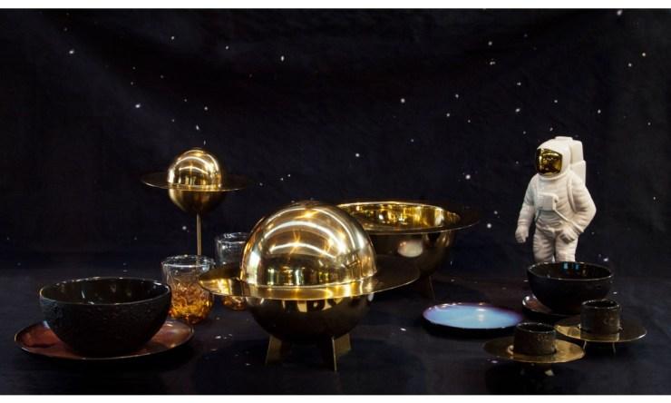 Vajilla espacial planetas sistema solar astronauta