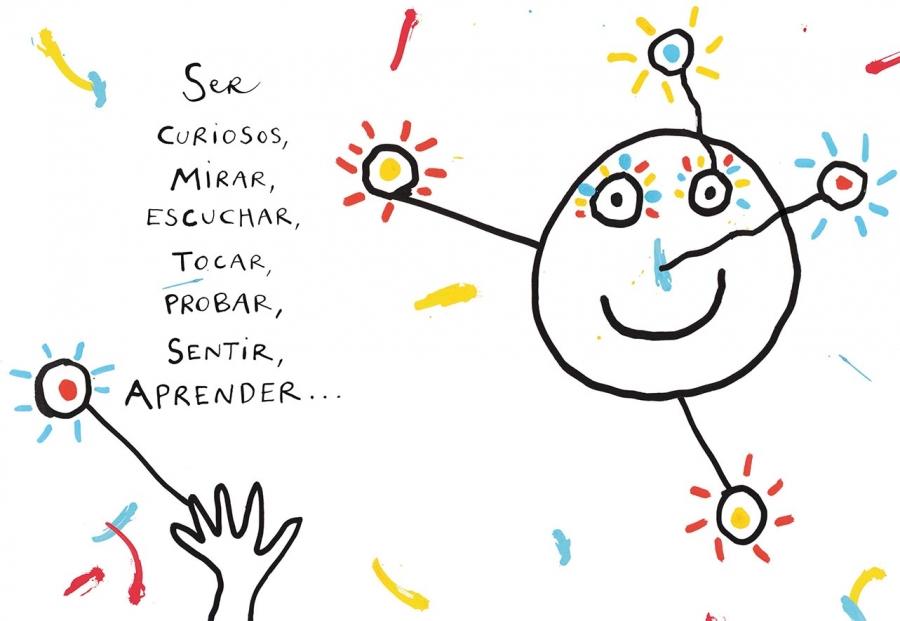Libros infantiles. Tengo una idea. Hervé Tullet. Kókinos. Elástica magazine