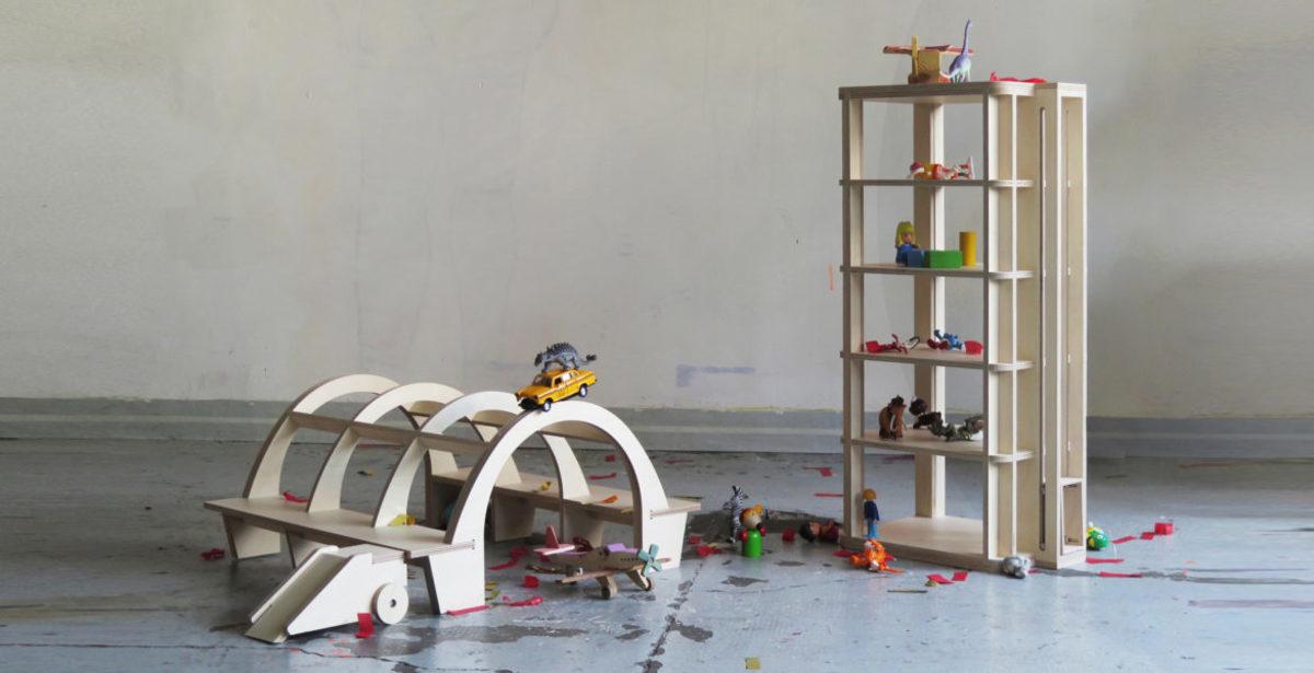 Juegos arquitectónicos de madera para niños. Design Market Barcelona 2019