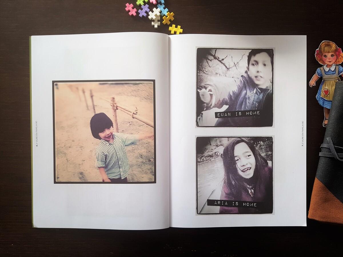 Viure en Familia. Revista familiar sobre criança. Polaroids
