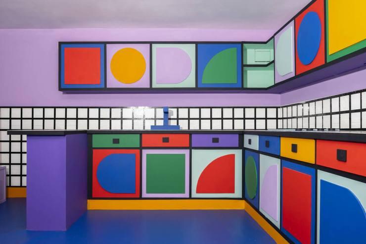 House of Dots. Camille Walala x Lego. Londres. Cocina
