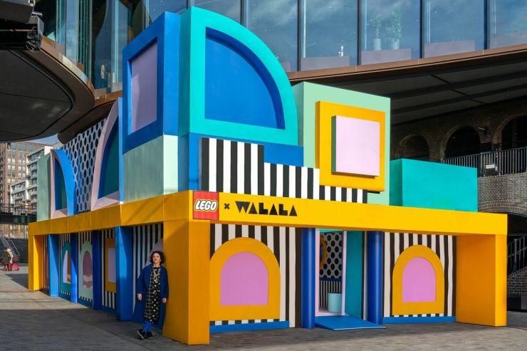 House of Dots. Camille Walala x Lego. Londres. exterior casa
