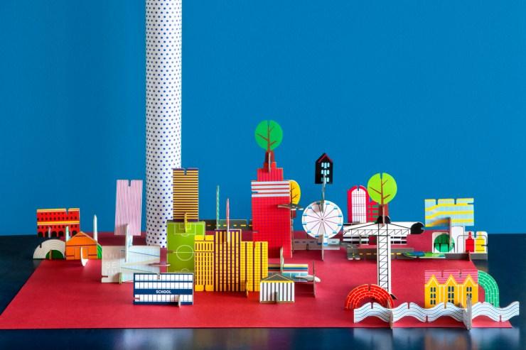 Ciudades de papel DIY Studio Roof