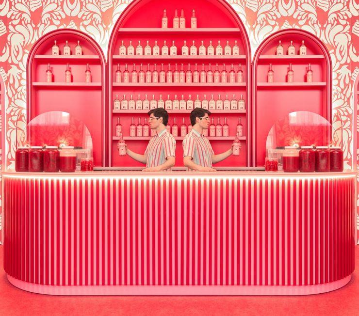 Museum Of Ice Cream fotografías de Maria Svarbova. Barra de bar