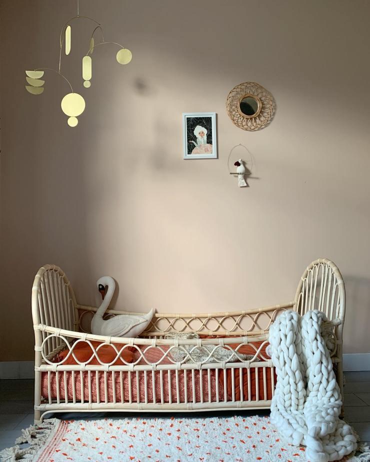 Muebles de bambú, rafia y ratán para niños. Decoración infantil