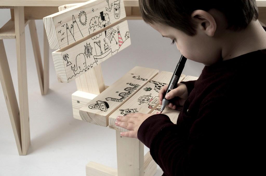 Unai Rollán. Hamaika. Silla DIY para niños. Personalizable