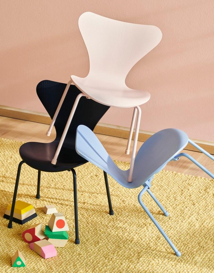Silla Series 7 niños de Arne Jacobsen. Fritz Hansen. Nuevos colores