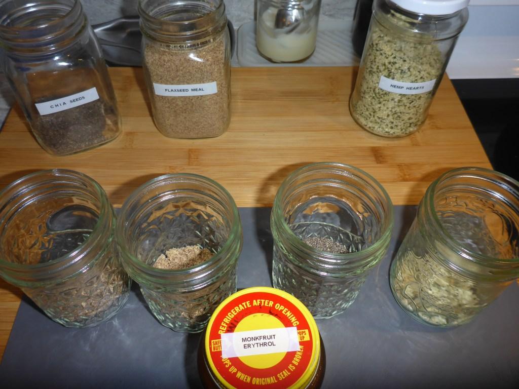 chia, flax seed meal, hemp hearts - pudding