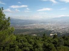 Θέα από την Πάρνηθα