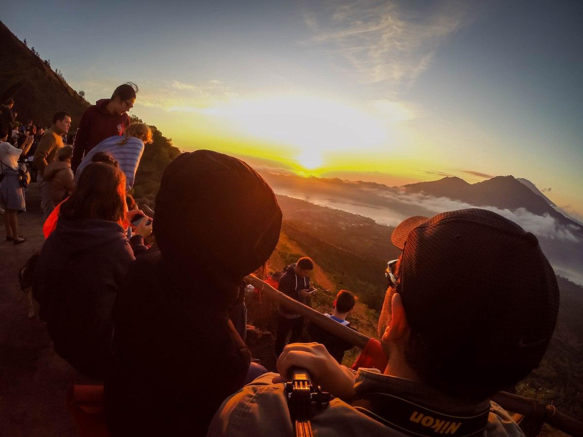 Subimos o Mount Batur - Vulcão ativo em Bali.
