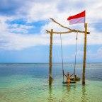 Gili Trawangan – Dia 3, Dar a volta na Ilha de bicicleta e conhecer o famoso balanço sobre a água.