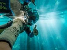 Eu nasci com escamas, aproveitei ao máximo esse mergulho. A transparência da água é incrível.