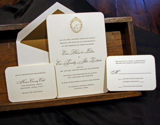 Houston Letterpress Wedding Invitations