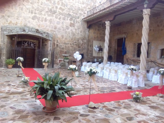 decoracion de eventos y ceremonias en el castillo de orgaz