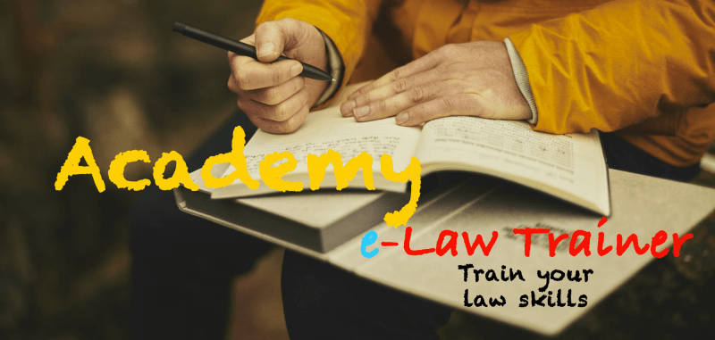 e-Law academy front-page