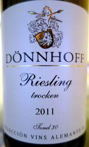 Hermann Dönnhoff riesling trocken 2011 Tonel #30