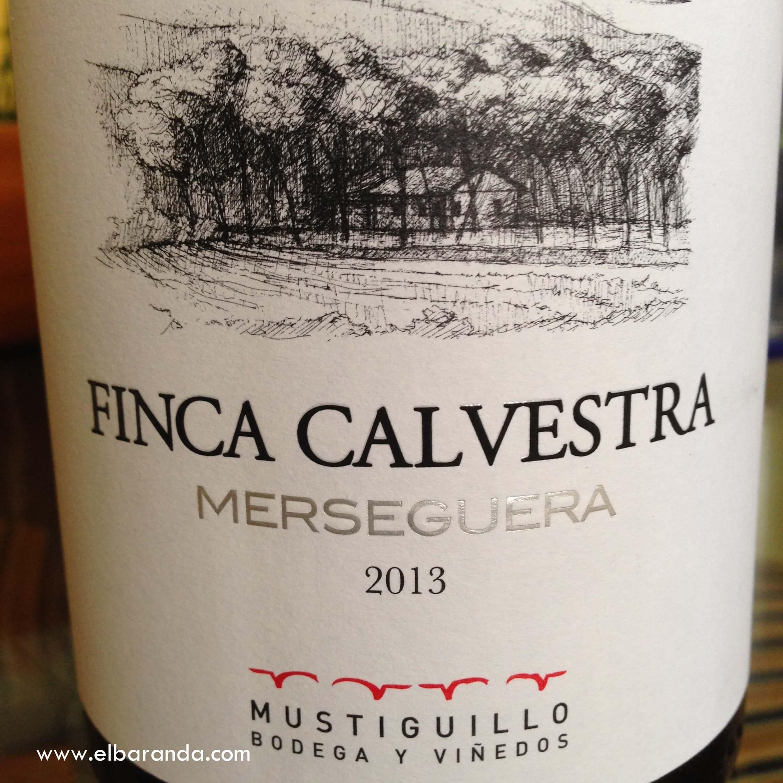 Etiqueta de Finca Calavestra 2013