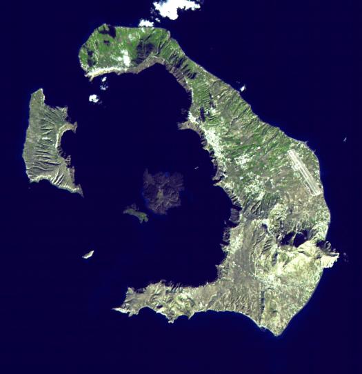 Vista aérea Santorini