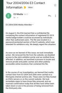 E3 Leak ESA