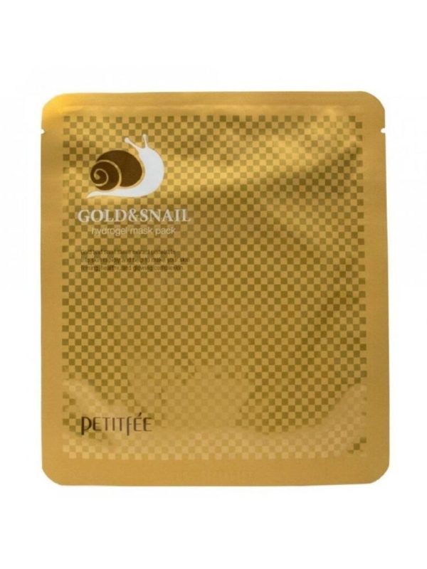 petitfee gold and snail hydrogel face mask pack