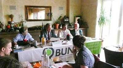 Foto: Pressekonferenz mit Hubert Weiger und Sebastian Schönauer am 08.08.2011 in Magdeburg