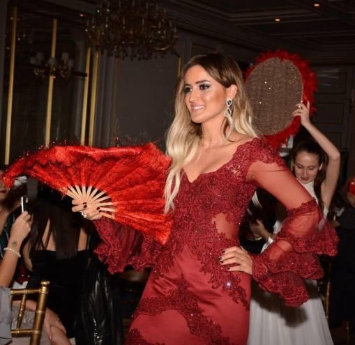 Alisse Nuera Bordo Nişan Elbisesi Kiralık
