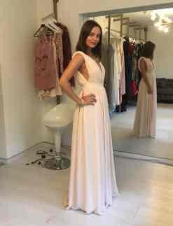 ElbiseKirala Collection Pudra Rengi Elbise