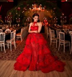 Sagaza Madrid Kırmızı Kına Abiyesi Modelleri