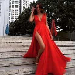 Züleyha Kuru Kiralık Uzun Gece Elbisesi