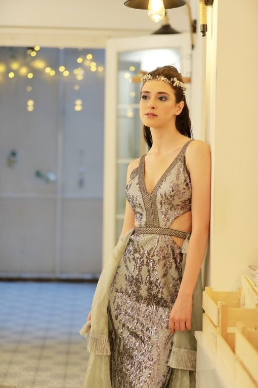 Alfabeta Kiralık Gri Elbise