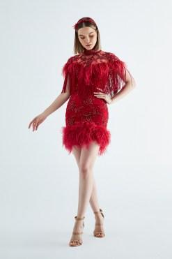 Elif Şimal Kırmızı Kına Elbisesi