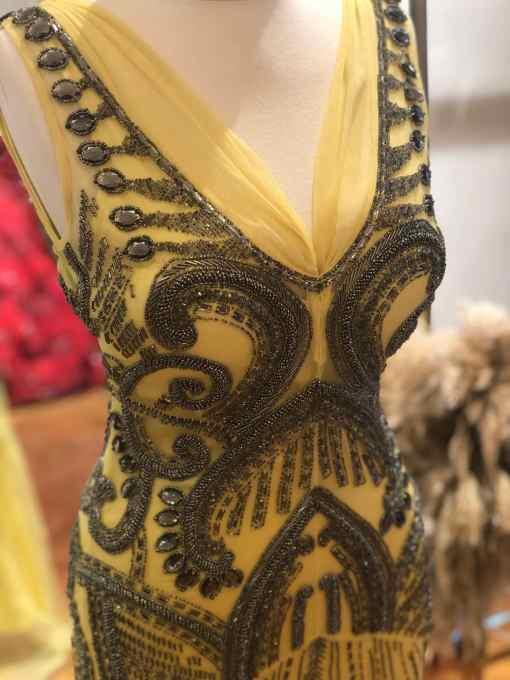 Raşit Bağzıbağlı Sarı Kiralık Elbise