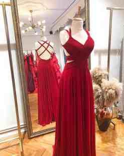 Özel Tasarım Kiralık Kırmızı Elbise