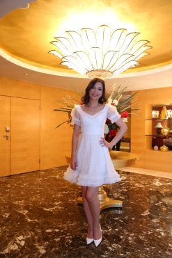 Beyaz Mini After Party Elbisesi