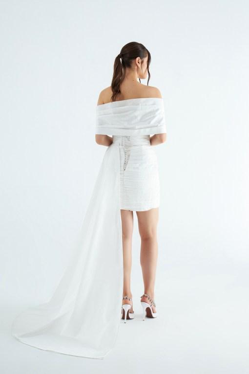 Maison Ju Beyaz Elbise