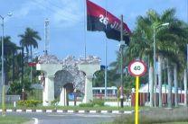 Bandera a la entrada de Artemisa