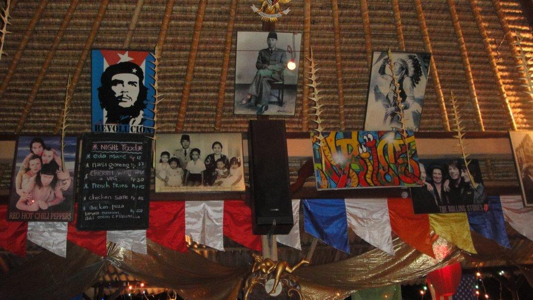Detalle del Cafe Wayat en Ubud (Bali)