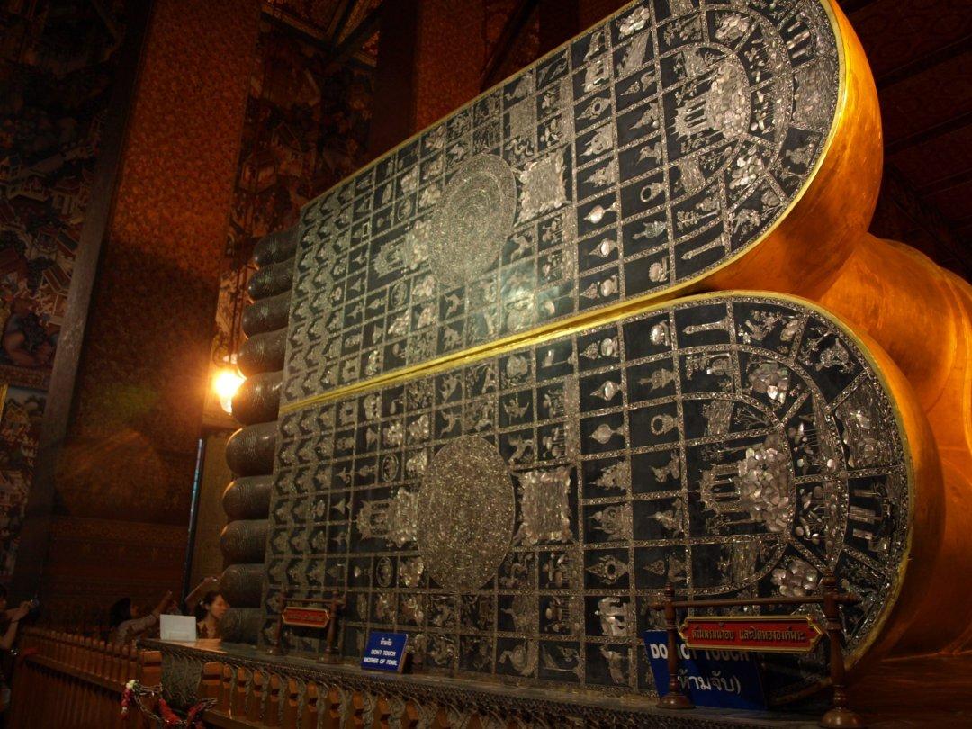 Detalle de planta del pie - Buda reclinado