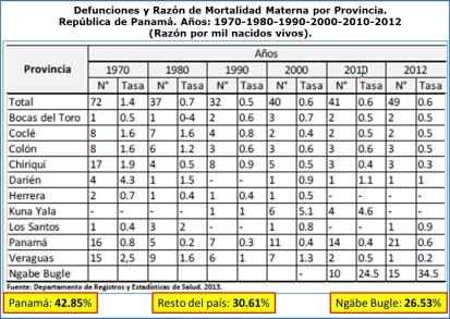 Mortalidad materna cifras