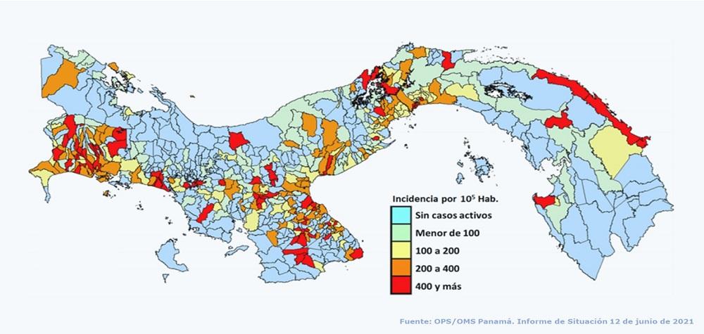 Epidemia de COVID-19 en Panamá: informe de situación al 12 de junio