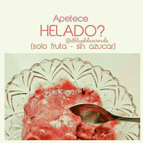 Helado fit (solo fruta!)